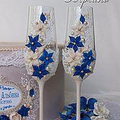 """Свадебный салон ручной работы. Ярмарка Мастеров - ручная работа Свадебные фужеры, коллекция """"Версаль"""". Handmade."""