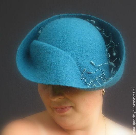 """Шляпы ручной работы. Ярмарка Мастеров - ручная работа. Купить Дамская шляпка """"Рубикон"""". Handmade. Валяная шляпка"""