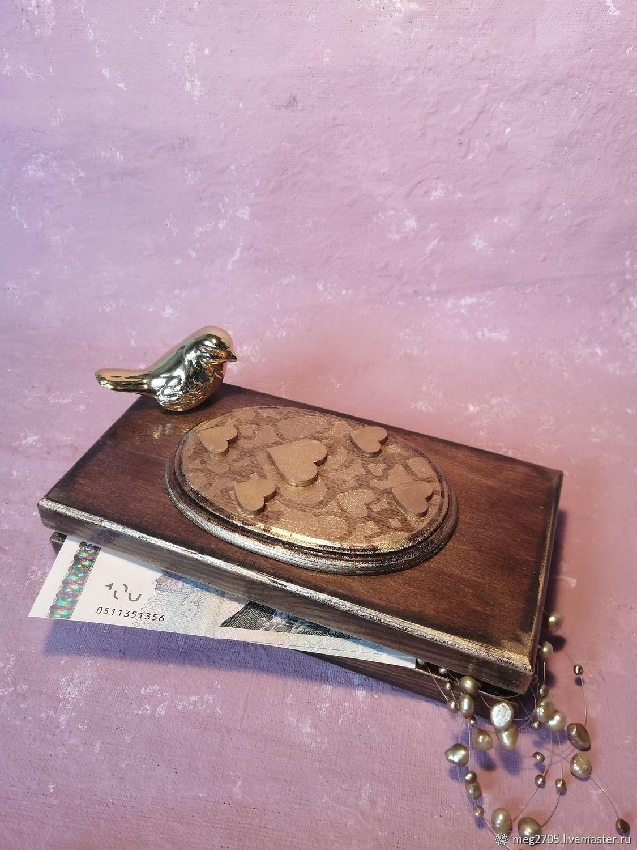 """Купюрница """"Элегантная"""" в комплекте с коробочкой для колец, Подарки, Химки,  Фото №1"""