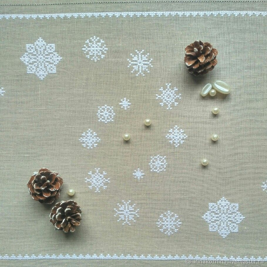 Салфетка новогодняя Завируха, Скатерти, Минск,  Фото №1