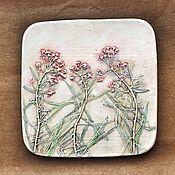 Картины и панно handmade. Livemaster - original item Weed Botanical Gypsum panels. Handmade.