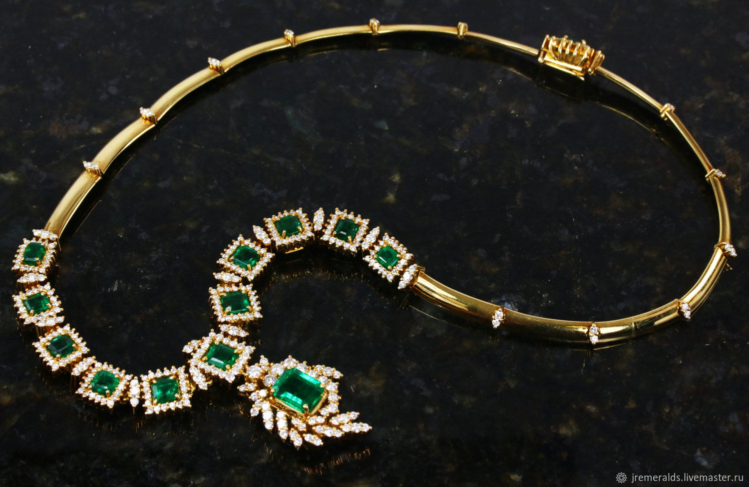 Natural Colombian Emerald Set Emerald Bracelet Emerald Necklace