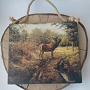 Картины и панно handmade. Livemaster - original item Interior panel on a pine tree