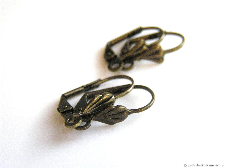 Earrings base for earrings color-bronze, Schwenzy, Tyumen,  Фото №1