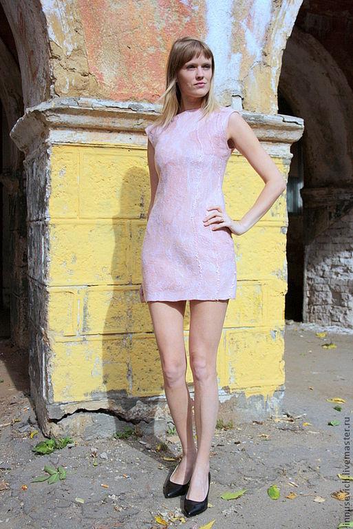 """Платья ручной работы. Ярмарка Мастеров - ручная работа. Купить Валяное платье """"Варенье из розовых лепестков"""". Handmade. Бледно-розовый"""