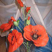 Цветы и флористика ручной работы. Ярмарка Мастеров - ручная работа Красные маки. Handmade.