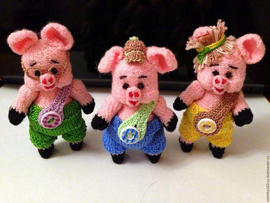 Игрушки животные, ручной работы. Ярмарка Мастеров - ручная работа. Купить Три поросенка. Handmade. Бледно-розовый, сказочные герои