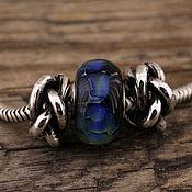 """Украшения ручной работы. Ярмарка Мастеров - ручная работа """"Rope"""" серебряные бусины для браслетов в стиле пандора. Handmade."""