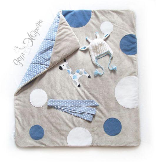 """Для новорожденных, ручной работы. Ярмарка Мастеров - ручная работа. Купить Одеяло на выписку и для прогулок """"Вечер Африки"""". Handmade."""