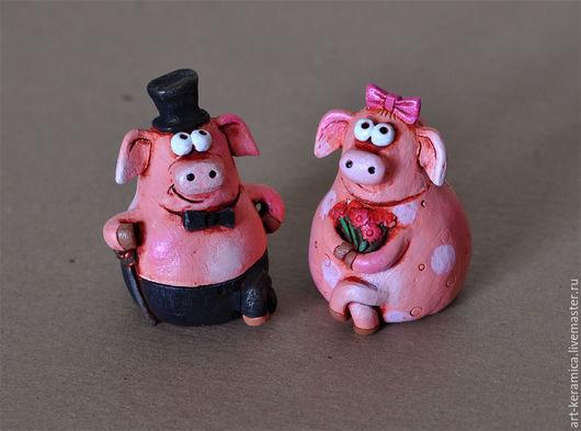 статуэтка свиньи коллекционная свинка  фигурка свиньи  пара свинок  купить фигурку свинки  купить статуэтку свинки