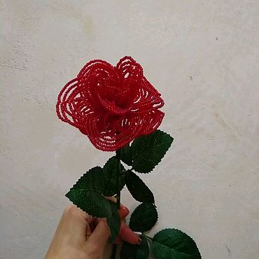 Цветы и флористика ручной работы. Ярмарка Мастеров - ручная работа Роза из бисера. Handmade.