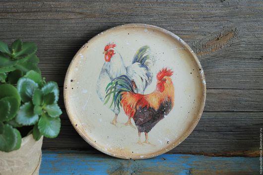 """Кухня ручной работы. Ярмарка Мастеров - ручная работа. Купить """"Кантри"""" Деревянная тарелка ОЛЬХА. Handmade. Комбинированный, деревянная тарелка"""