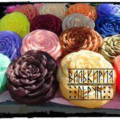 Для дома и интерьера ручной работы. Ярмарка Мастеров - ручная работа Подушки-розы. Handmade.