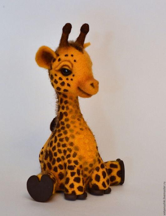 Игрушки животные, ручной работы. Ярмарка Мастеров - ручная работа. Купить Жирафа Клавушка. Handmade. Жираф, африка, игрушка из шерсти