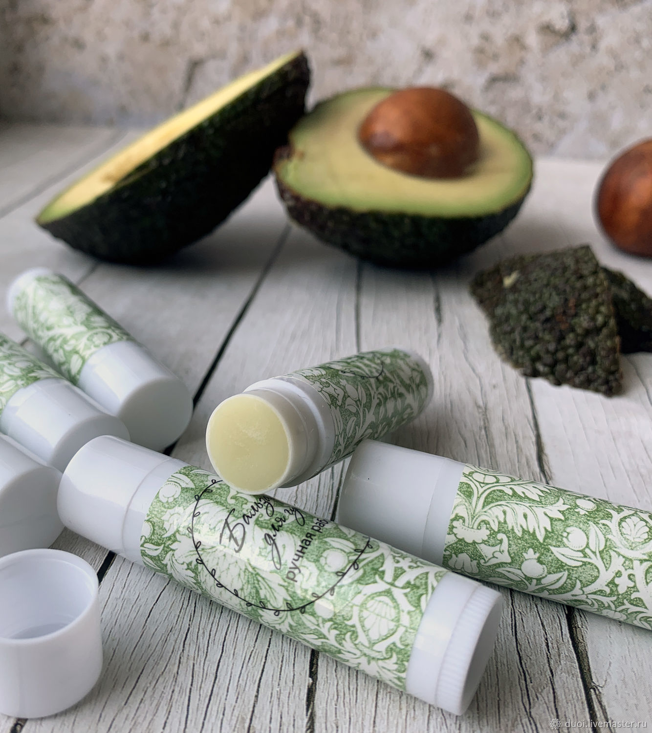 Lip balm with avocado oil and wax, Lip Balm, Moscow,  Фото №1