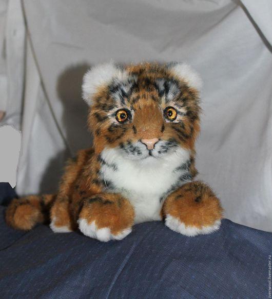 Игрушки животные, ручной работы. Ярмарка Мастеров - ручная работа. Купить тигренок. Handmade. Оранжевый, Ягуар, рыжий, хищник, животное