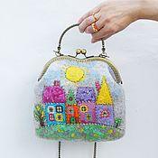 Сумки и аксессуары handmade. Livemaster - original item Handbag with houses in stock. Handmade.