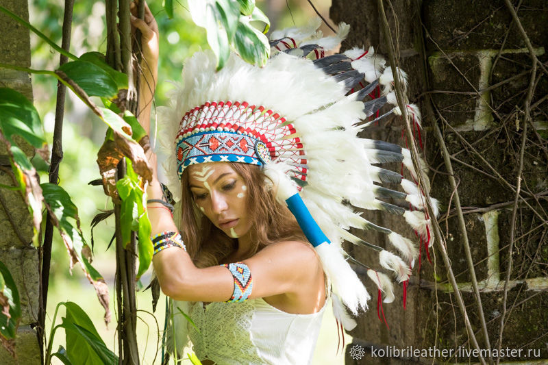 Carnival Costumes handmade. Livemaster - handmade. Buy Indian hat with  feathers. Indian Christmas ... 22fa7b4a85d