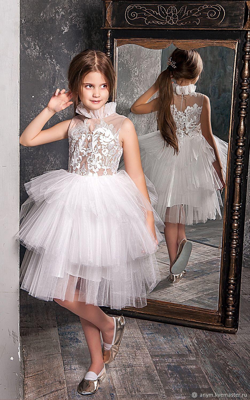 """Нарядное платье для девочки """"White Swan"""""""
