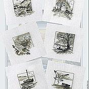 Картины и панно ручной работы. Ярмарка Мастеров - ручная работа Морские зарисовки (вариант на светлой канве). Handmade.