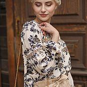 5d5c4ff6012 Кремовая блузка из шёлка с вискозой
