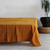 Для дома и интерьера handmade. Livemaster - original item Linen sheet 230h240 cm-Luxury linen made of soft linen. Handmade.