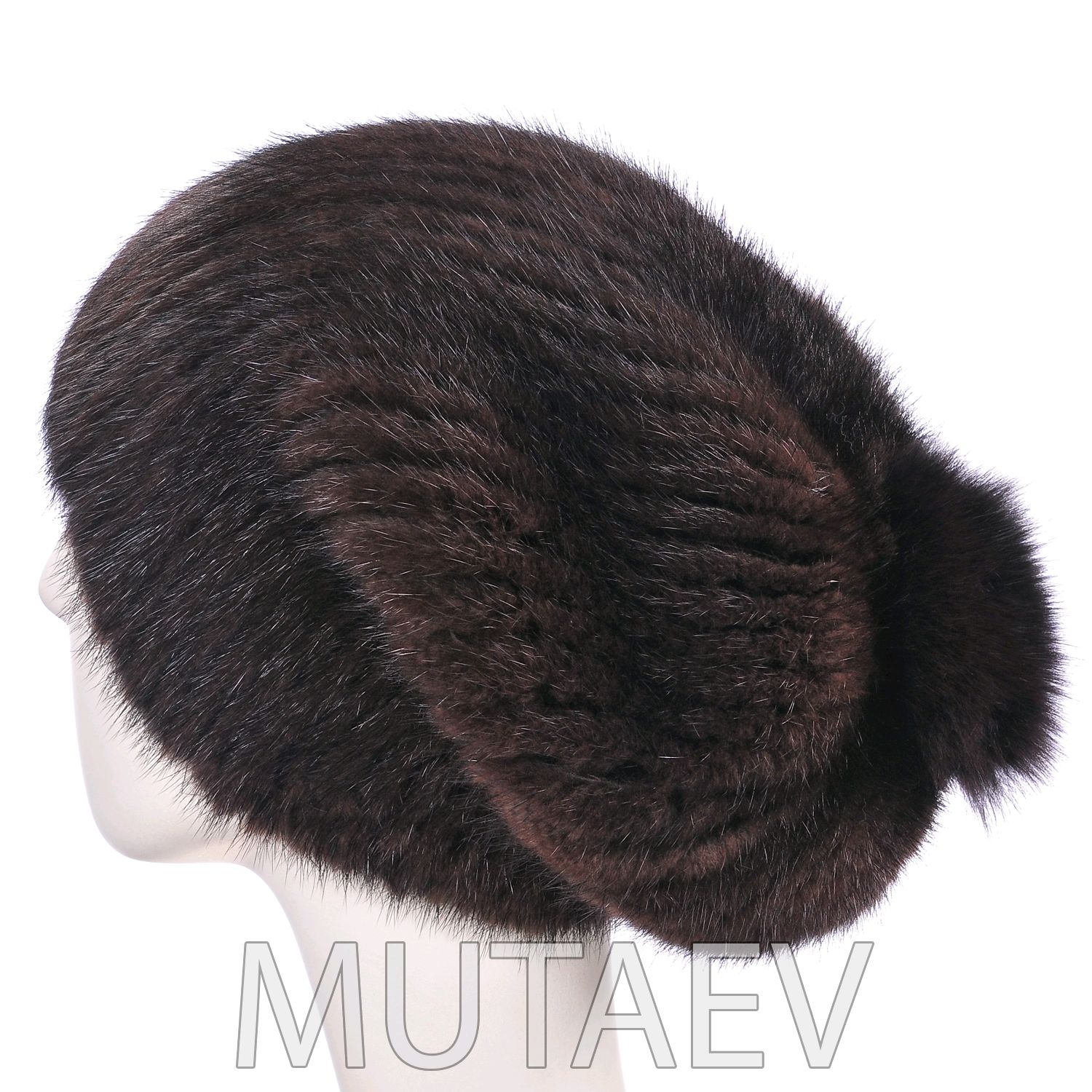 Women's mink fur hat, Caps, Moscow,  Фото №1