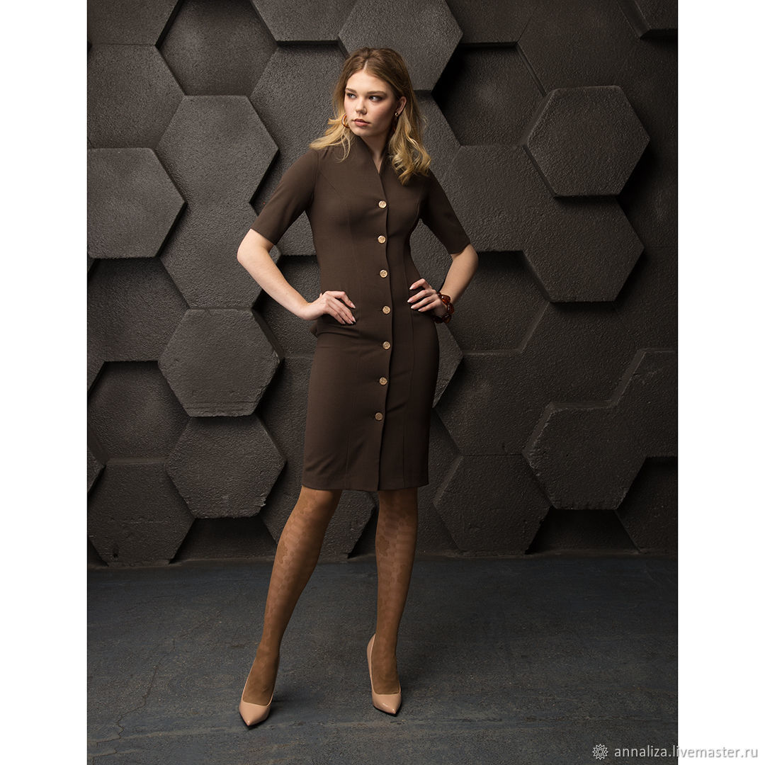 Womens cocktail dress 'Neovintage' bitter chocolate, Dresses, Moscow,  Фото №1