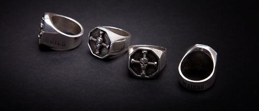 iron bolts байкерские кольца из серебра 925 ювелир судаков сергей