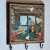 Для дома и интерьера handmade. Livemaster - original item Kitchen hanger Behind the window Alps. Handmade.
