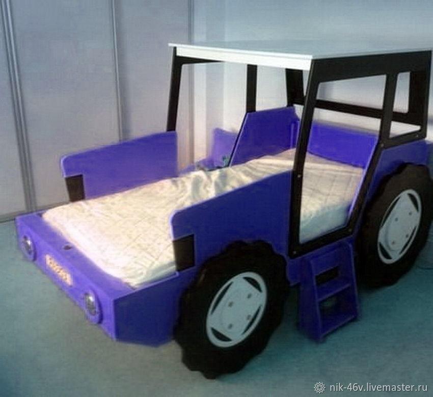 Синий трактор из мультика - кроватка детская – заказать на ...