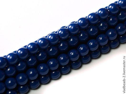 Для украшений ручной работы. Ярмарка Мастеров - ручная работа. Купить Бусины 4мм чешские стеклянные Royal Blue. Handmade.