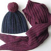 Аксессуары ручной работы. Ярмарка Мастеров - ручная работа шапка и шарф из итальянского твида. Handmade.
