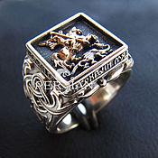 Украшения handmade. Livemaster - original item Men`s ring George. Handmade.