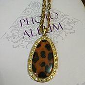 Винтаж handmade. Livemaster - original item Vintage leopard necklace. Handmade.