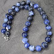 handmade. Livemaster - original item Beads made of natural stone sodalite. Handmade.