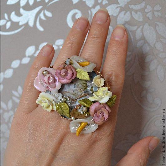 Кольца ручной работы. Ярмарка Мастеров - ручная работа. Купить Барокко, безразмерный Перстень  'Ангельская Мелодия '. Handmade. Барокко