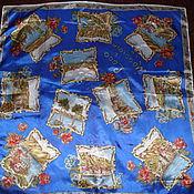Vintage accessories handmade. Livemaster - original item Scarf with a story,100% silk,Italy. Handmade.