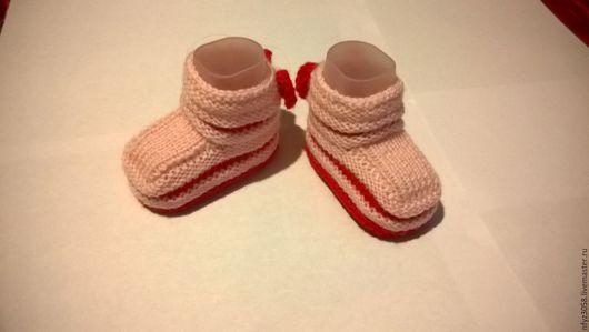 """Для новорожденных, ручной работы. Ярмарка Мастеров - ручная работа. Купить Пинетки """"Маленькие лабутены"""". Handmade. Розовый"""