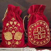 Подарки к праздникам ручной работы. Ярмарка Мастеров - ручная работа Мешочки бархатные. Handmade.
