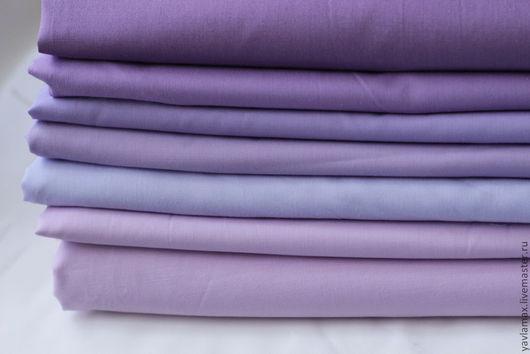 """Шитье ручной работы. Ярмарка Мастеров - ручная работа. Купить Набор тканей """"Базовый -1"""". Handmade. Сиреневый, ткань для рукоделия"""