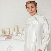 Одежда ручной работы. Ярмарка Мастеров - ручная работа Платье из шелка П-97. Handmade.