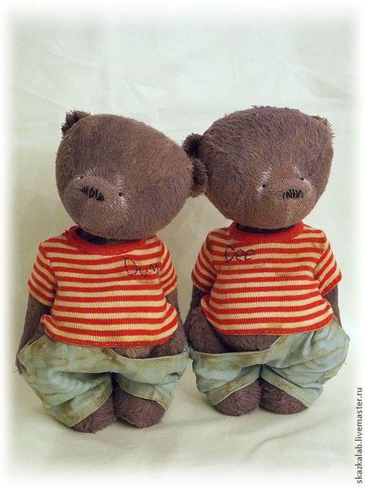 Мишки Тедди ручной работы. Ярмарка Мастеров - ручная работа. Купить ТвидлДи и ТвидлДам. Handmade. Фиолетовый, алиса в стране чудес