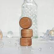 Упаковка ручной работы. Ярмарка Мастеров - ручная работа Мини-коробочка для колец круглая дубовая. Handmade.