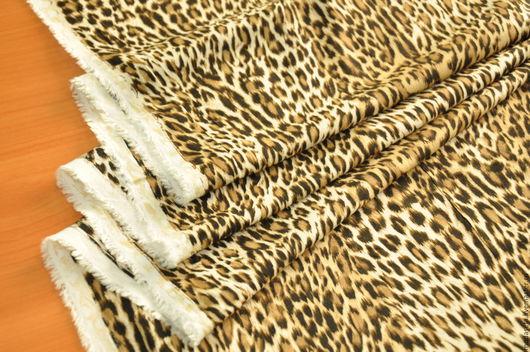 """Шитье ручной работы. Ярмарка Мастеров - ручная работа. Купить Вискоза """"Леопард"""". Италия.. Handmade. Ткани для рукоделия, одежда для женщин"""
