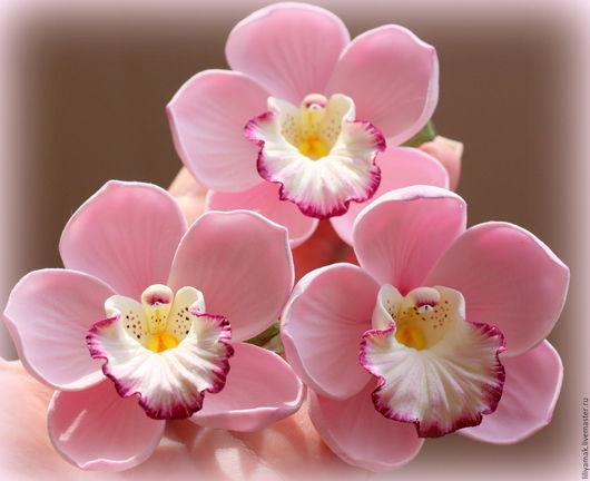 Заколки ручной работы. Ярмарка Мастеров - ручная работа. Купить комплект из орхидей цвета пудры- шпильки. Handmade. Орхидеи, невеста