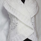 Одежда ручной работы. Ярмарка Мастеров - ручная работа жилет-накидка АФИНА. Handmade.
