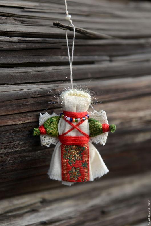 Народные куклы ручной работы. Ярмарка Мастеров - ручная работа. Купить Ангелочки текстильные. Handmade. Ярко-красный, кукла традиционная