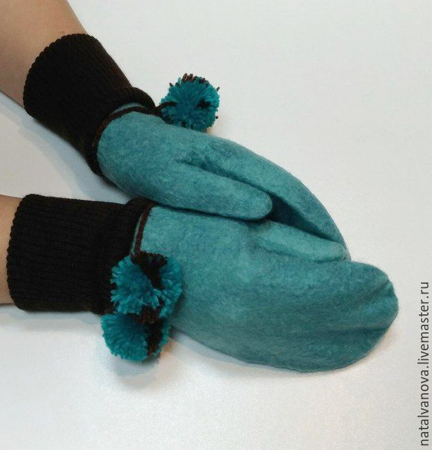 Felted mittens, Mittens, Losino-Petrovsky,  Фото №1