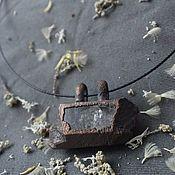 Украшения handmade. Livemaster - original item Copper pendant with rock crystal. Handmade.